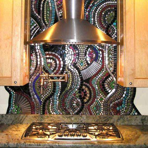 top creative unique kitchen backsplash ideas wonderful mosaic kitchen backsplashes
