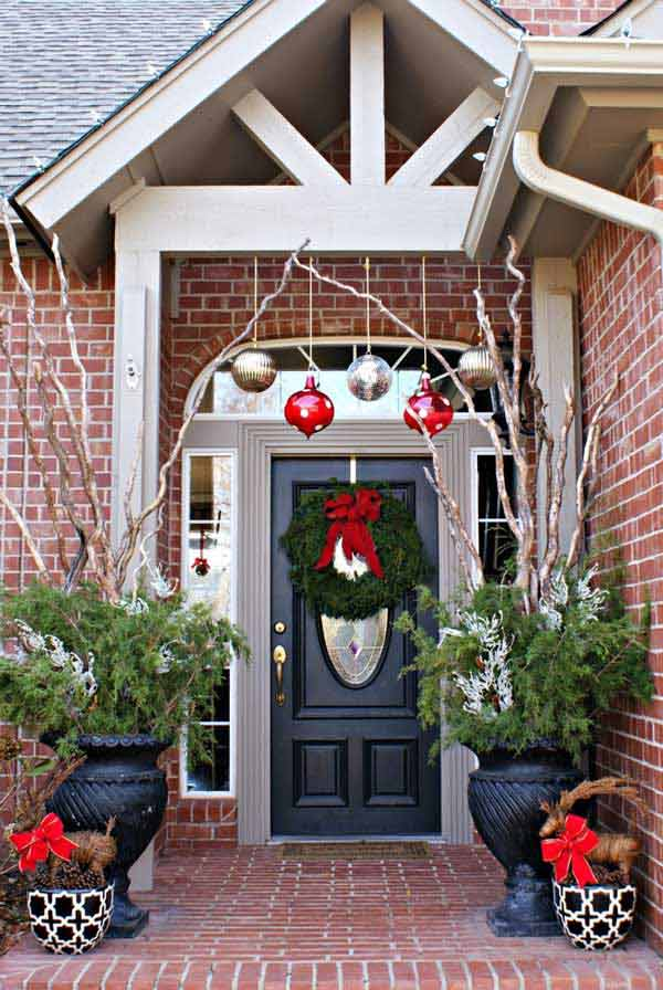 Weihnachtsdeko Fenster 40 Cool Diy Decorating Ideas For Christmas Front Porch