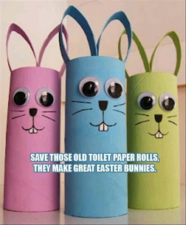 Basteln mit papierrollen