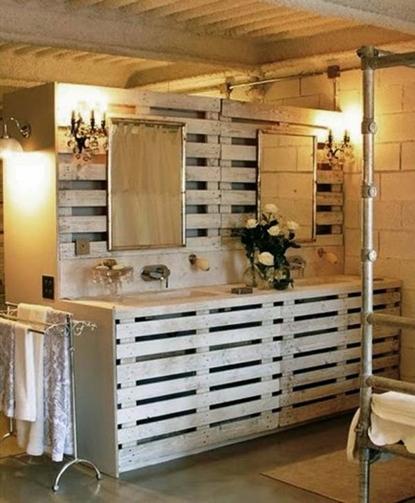 Meuble Tv Fait Avec Des Palettes The Best 24 Diy Pallet Projects For Your Bathroom