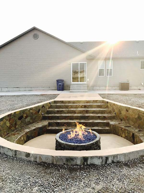 Houzz Benches 21 Awesome Sunken Fire Pit Ideas To Steal For Cozy Nights