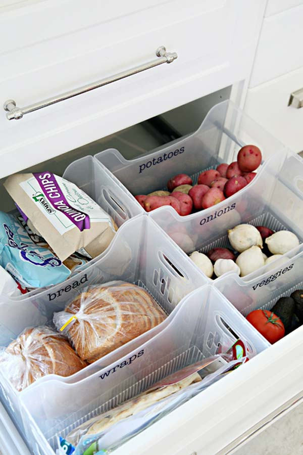 Kitchen Drawer Knife Organizer 15 Easy And Clever Hacks To Organize Kitchen Cabinets