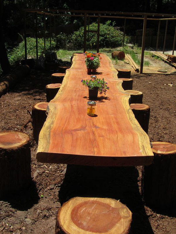 Rustic Round Coffee Table 19 Amazing Diy Tree Log Projects For Your Garden
