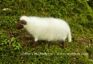 We'll make poseable sheep from a variety of natural colours.