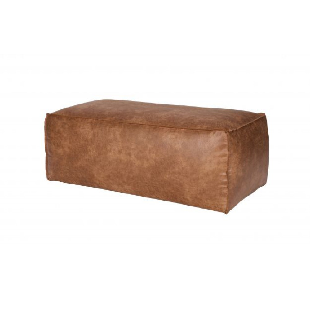 Bank Met Ribstof Be Pure - Rodeo Hocker Cognac