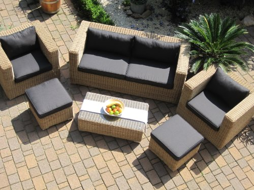 Allibert California Sessel Geflecht Lounge Gartenmobel Modell - Parsvending.com
