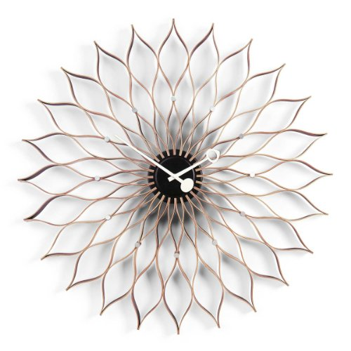 Vitra Quartz Vitra 20125601 Sunflower Clock Ø 750 Mm Birke Schwarz