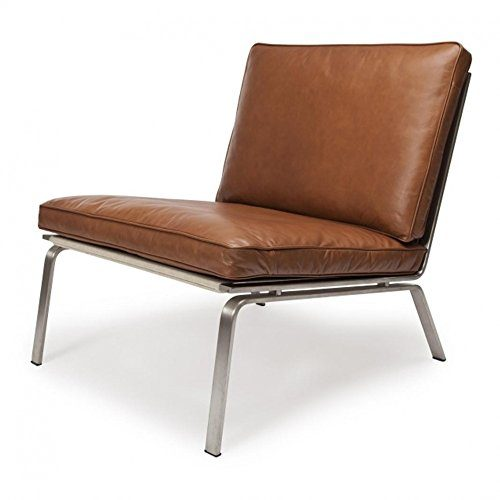 Lounge Sessel Leder Cognac Norr 11 Man Lounge Chair Sessel, Cognac Braun Gebürstet