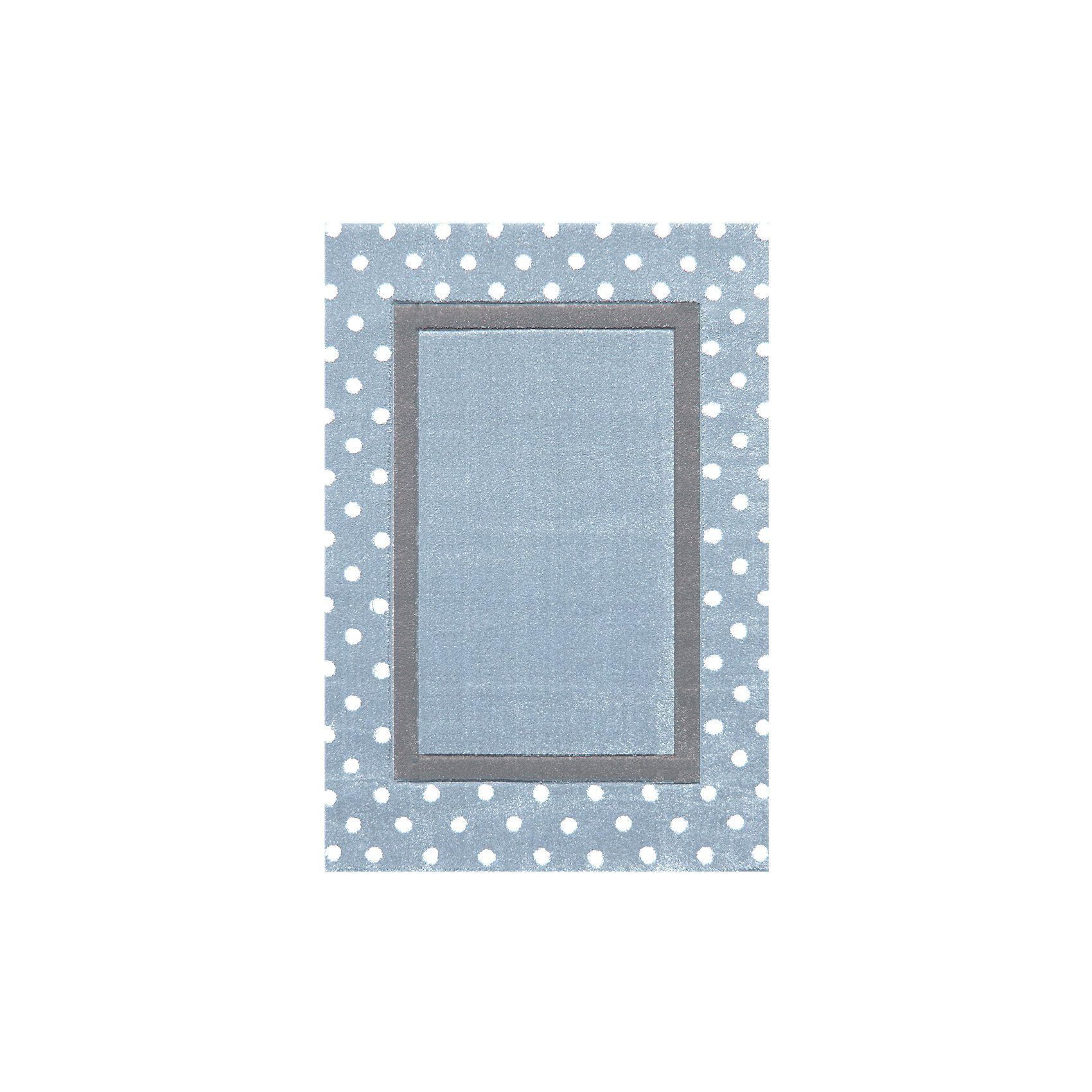 Happy Rugs Teppiche Happy Rugs Kinderteppich Point Blau Silbergrau Blau 160 X