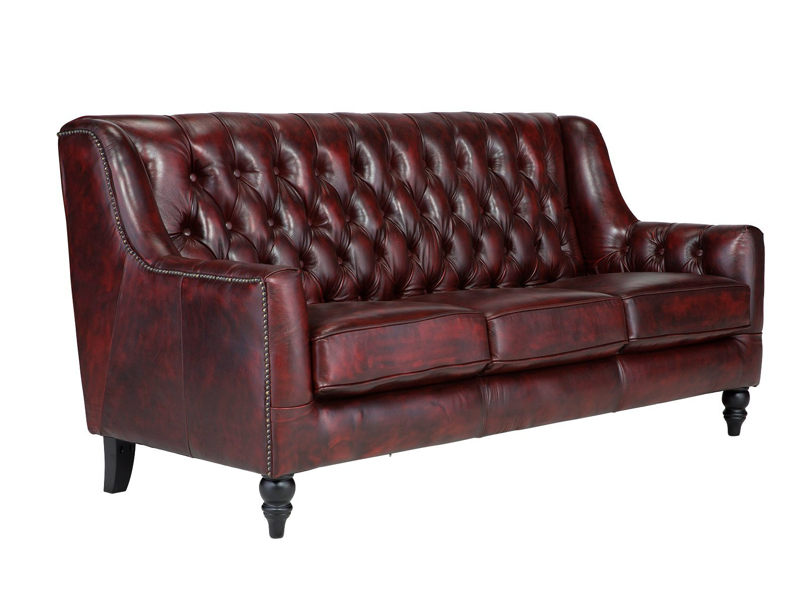 Chesterfield Sofa Rot Massivum Sofa Aus Echtleder Chesterfield Bozen Rot