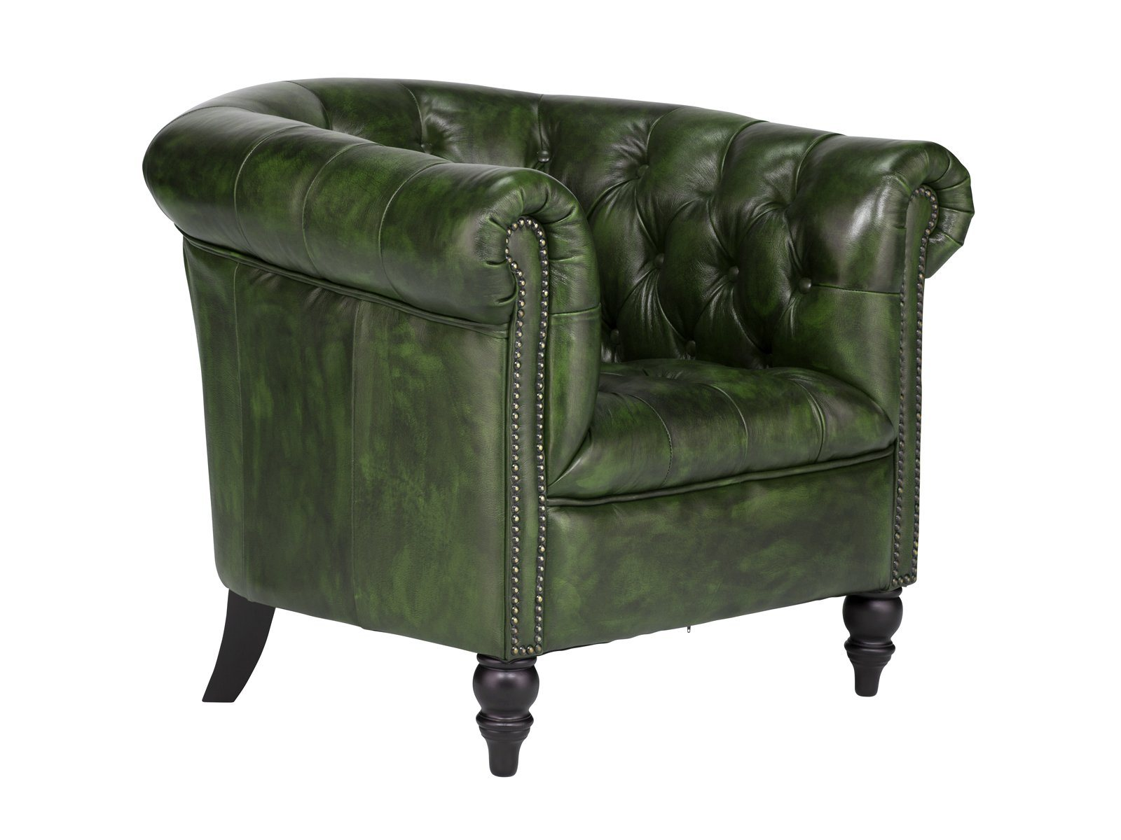 Massivum Sessel Massivum Sessel Aus Echtleder Chesterfield Derry Grün