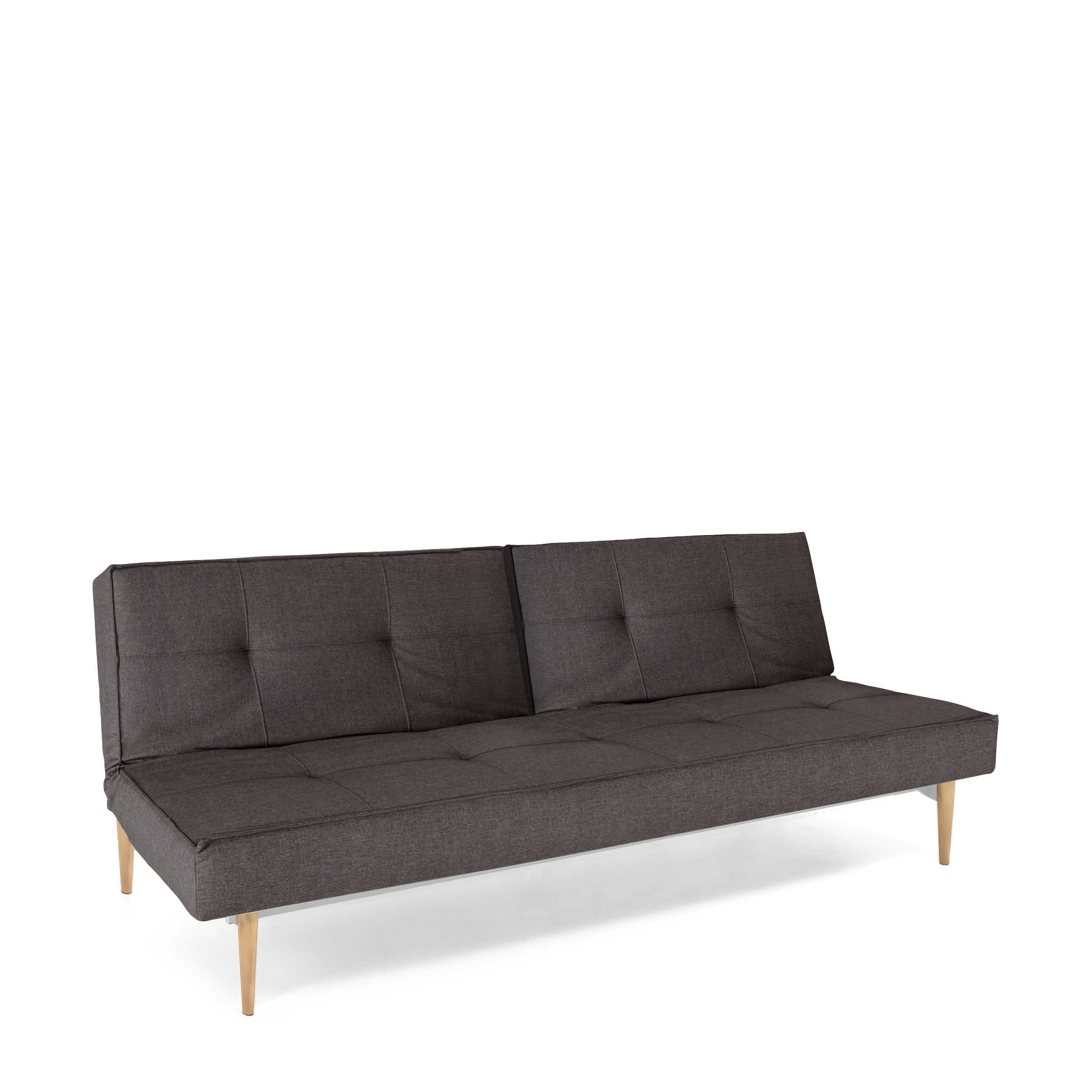 Innovation Schlafsofa Innovation Schlafsofa Splitback Styletto Hell Grau Stoff