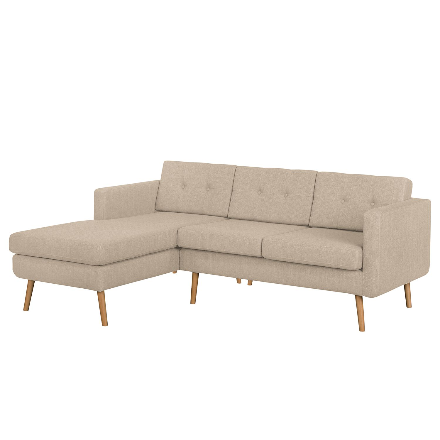 Morteens Ecksofa Ecksofa Croom Webstoff Longchair Davorstehend Links Ohne Hocker