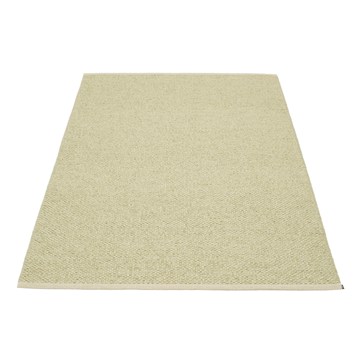 Teppich Pappelina Pappelina Svea Teppich 140 X 220 Cm Olive Metallic