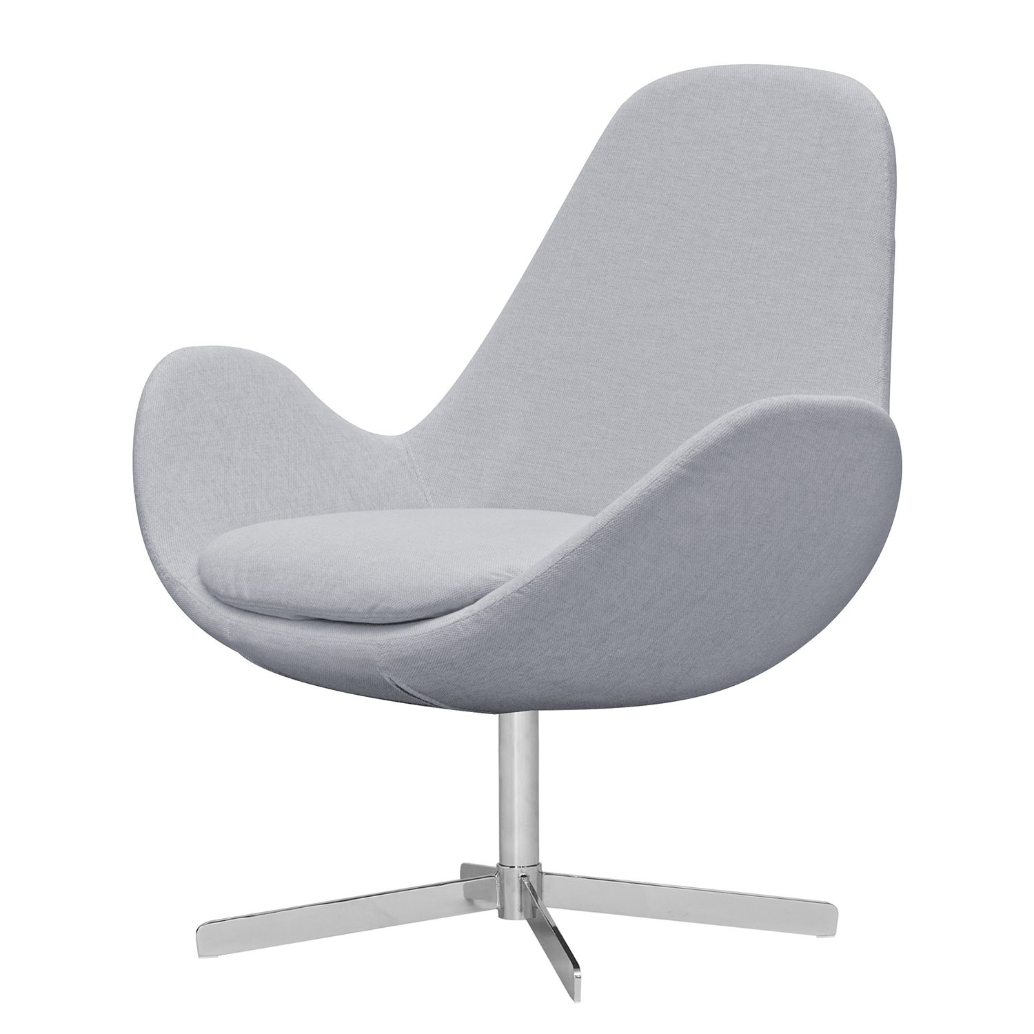 Milano Sessel Sessel Houston Ii Webstoff Chrom Stoff Milan Hellgrau