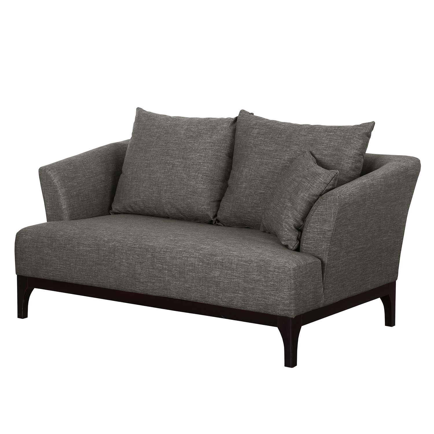 Morteens Sofa Sofa New Dalton 2 Sitzer Webstoff Grau Morteens