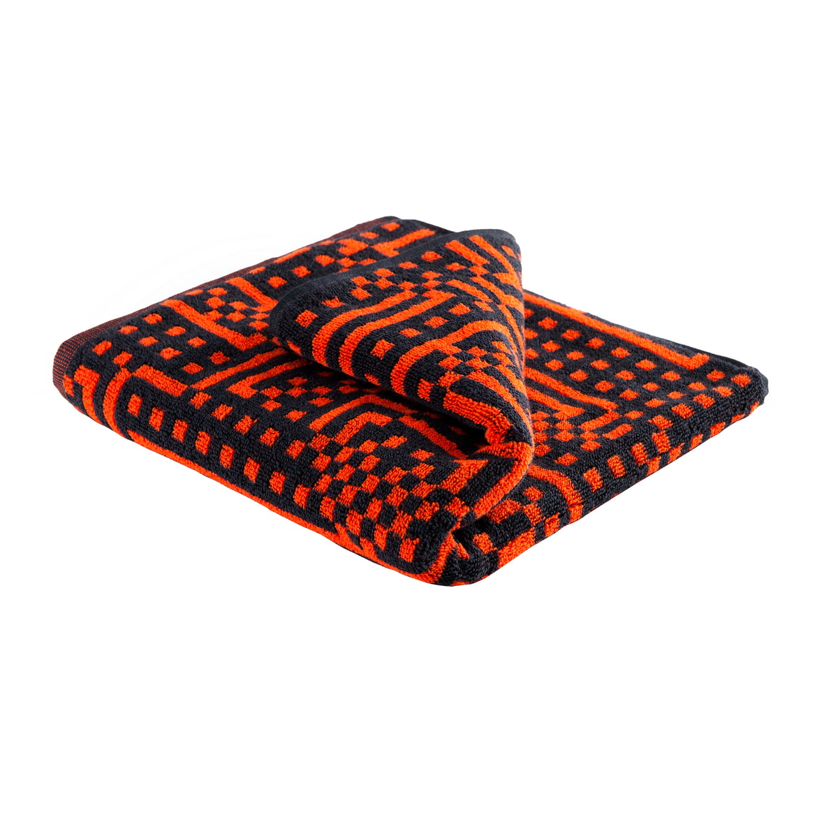 Handtücher Orange Zuzunaga Route Black And Red Orange Handtuch 50 100