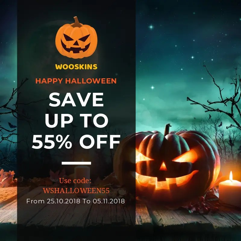 Celebrate Halloween with 55 OFF for all orders from the best