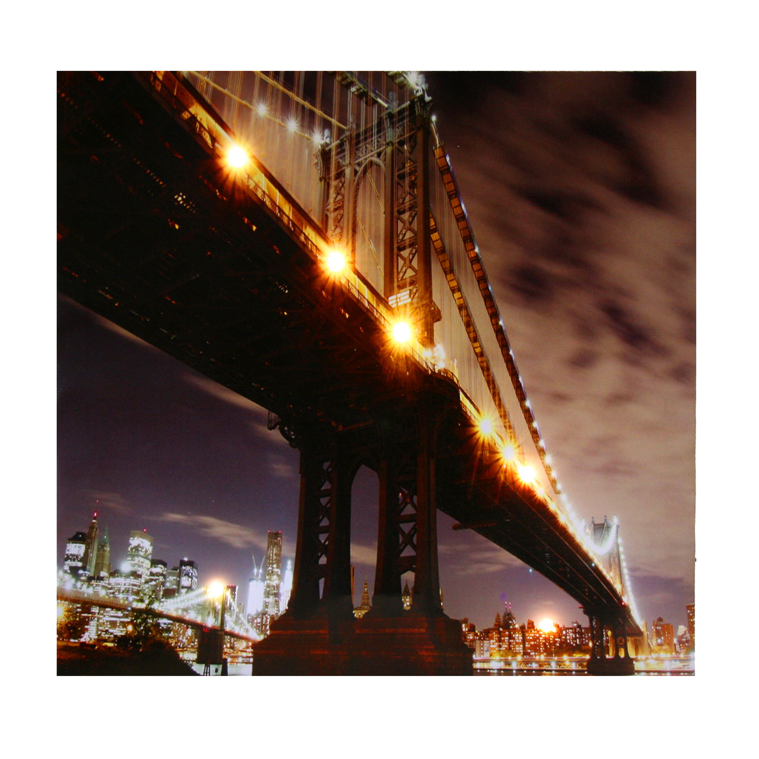 Bilder 50x50 Kunstdruck Led Bild Quotnew York Quot Mit 6 Led Wandbild 50x50 Cm