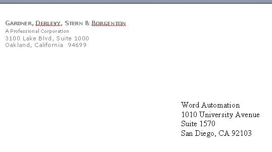 Legal Correspondence Templates - Microsoft Word Word Automation - sample legal letter format