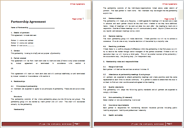 Business Partner Contract Agreement – Business Partner Contract