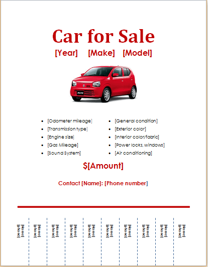 Doc566800 For Sale Poster Template sale 56 Similar Docs – Car for Sale Flyer Template