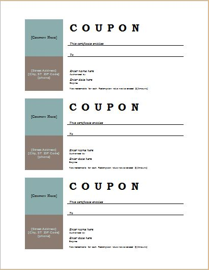 How to Make Coupons with Sample Coupon Templates Word Document - microsoft office coupon template