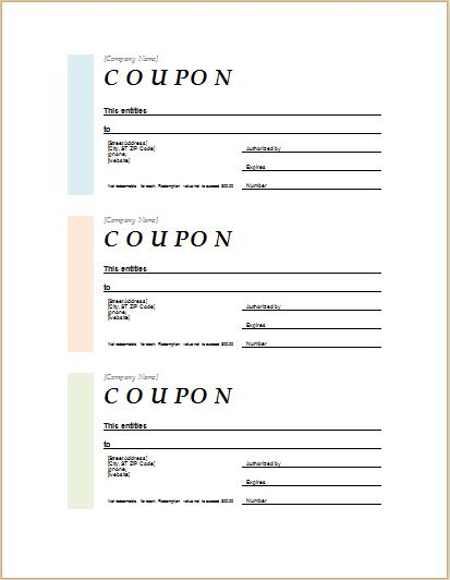 How to Make Coupons with Sample Coupon Templates Word Document