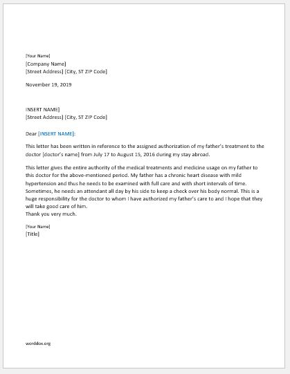 6 Authorization Letter Templates for Everyone Word Document Templates