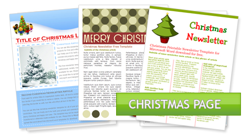 WordDraw - Free Holiday Newsletter Templates For Microsoft Word