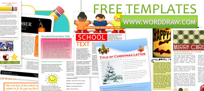 ms word newsletter template free - Funfpandroid - Newsletter Templates Free Word