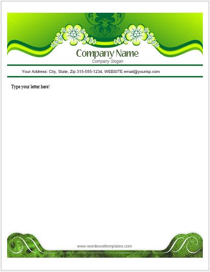 Objectives On A Resume Floral Letterhead Templates For Ms Word | Word & Excel