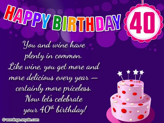 40th-birthday-wishesjpg (640×480) Eunice Pinterest - sample coach thank you letter