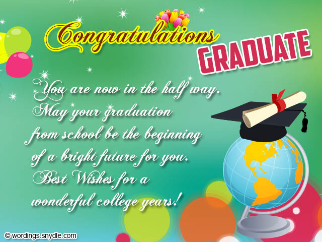 Graduation Congratulations Messages and Wordings - Wordings and Messages - congratulation graduation