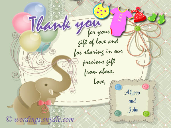 Thank You Messages For Baby Shower Messages And Gifts