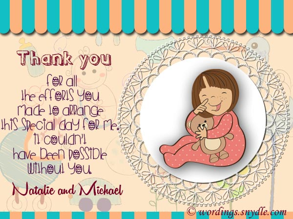 Thank You Messages for Baby Shower Messages And Gifts - Wordings and - baby shower thank you notes