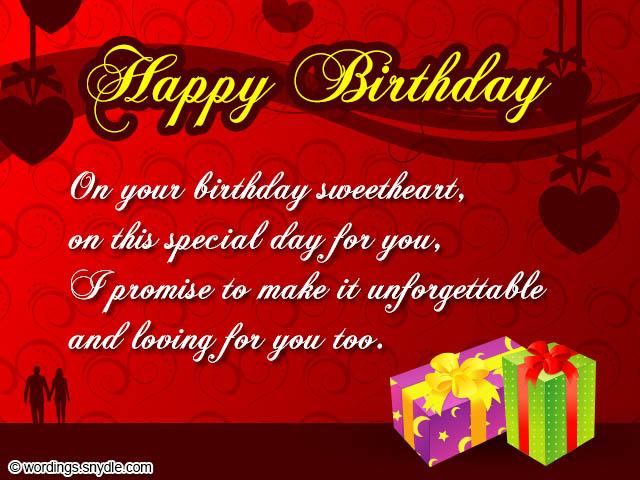 Birthday Wishes for Boyfriend and Boyfriend Birthday Card Wordings - sample happy birthday email