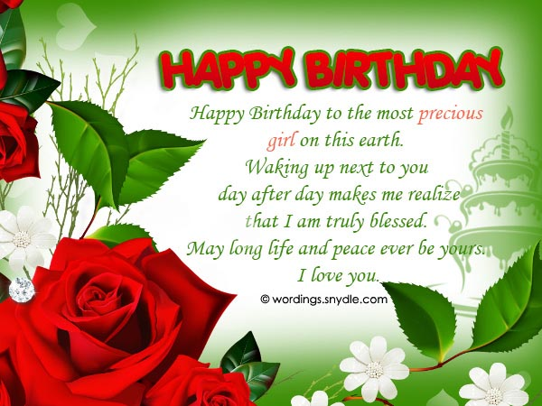 Birthday Wishes And Messages for Wife - Wordings and Messages