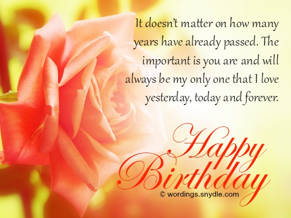 Birthday Wishes And Messages for Wife - Wordings and Messages - sample happy birthday email