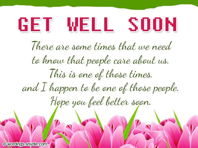 Get Well Soon Wishes and Card Wordings - Wordings and Messages - get well soon card