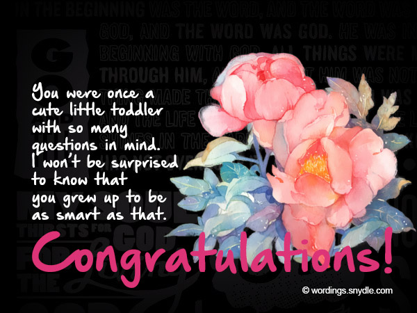 Graduation Congratulations Messages and Wordings - Wordings and Messages