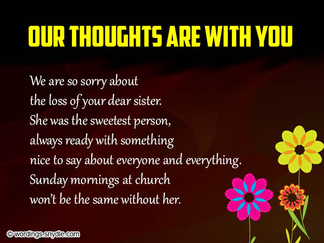 Sympathy Card Messages and Wordings - Wordings and Messages - sympathy message