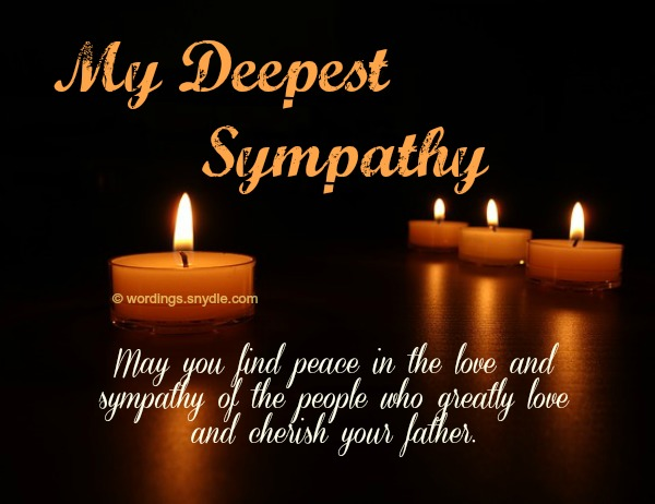 Sympathy Messages for Loss of Father - Wordings and Messages - sympathy message