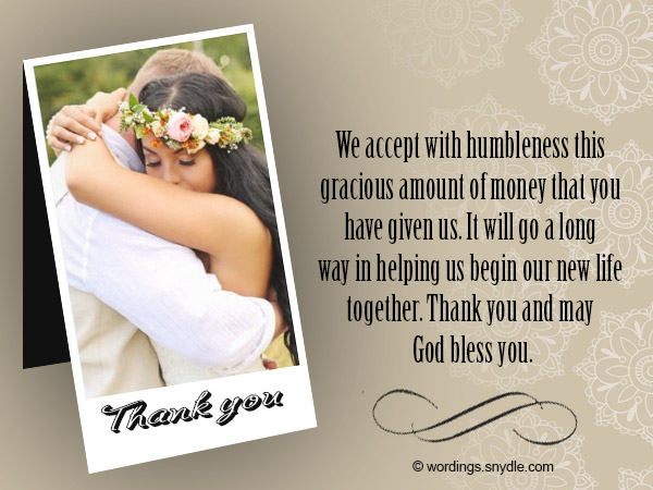 Thank You Notes For Wedding Gifts Wording Images - Wedding