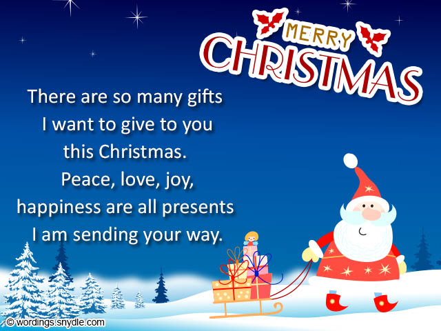 Christmas Card Messages and Christmas Card Wordings - Wordings and