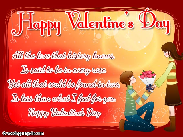 Valentines Day Wishes, Be My Valentine - Wordings and Messages - valentines cards words