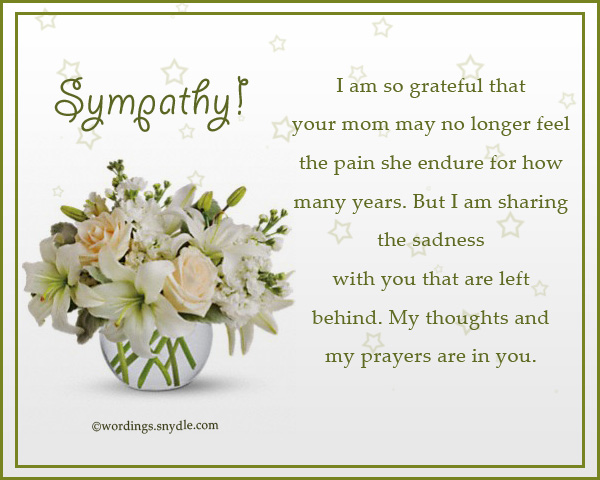 Sympathy Messages for Loss of a Mother - Wordings and Messages - sympathy message