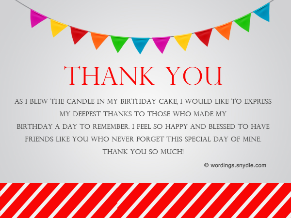 How To Say Thank You For Birthday Wishes - Wordings and Messages - sample happy birthday email