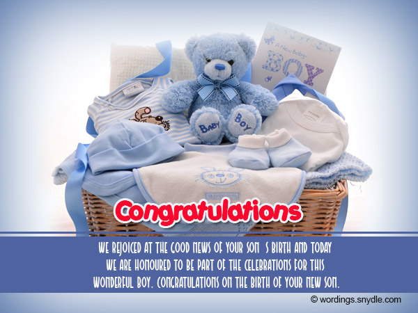 Congratulation Messages for New Born Baby Boy - Wordings and Messages - congratulation for the baby boy