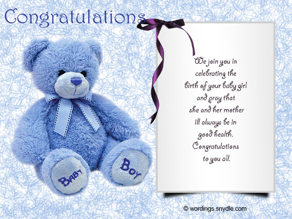 Congratulations Messages for New Baby Girl - Wordings and Messages - new baby congratulations